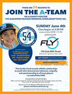 FLYWHEEL CHARITY RIDE: JUNE 4, 2017